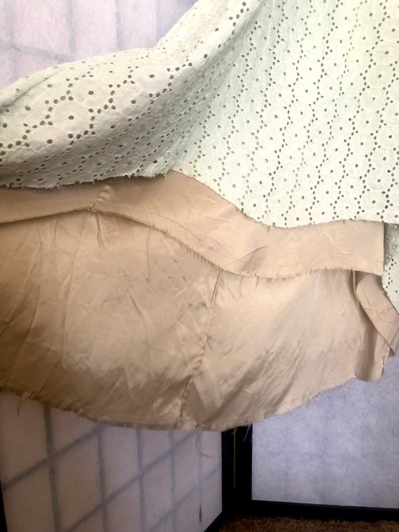 Vintage 1970's Pear and Mint Peasant Dress - image 5