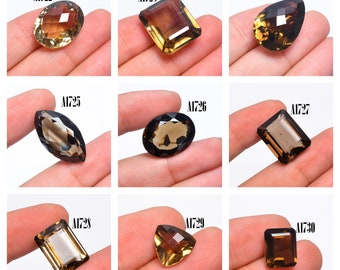 Top Grade Quality 100% Natural Smoky Quartz Faceted Loose Gemstone For Making Jewelry