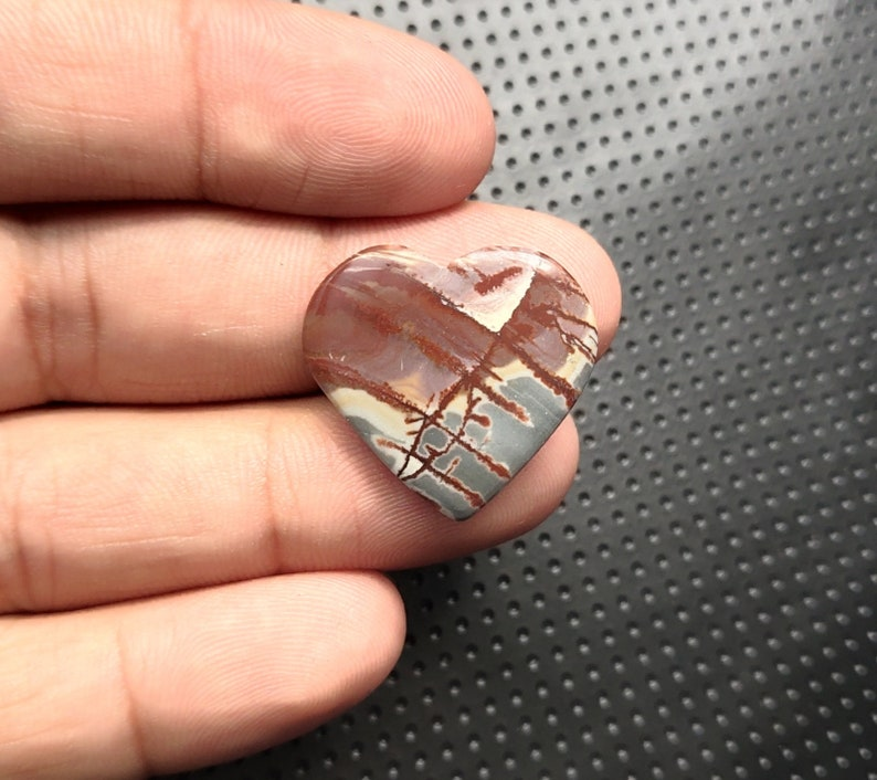 AWSOME Mexico Sonora Dendritic Heart Shape Cabochon 22X24X5 mm  For Pendant B-40 Loose Gemstone