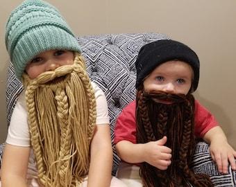 Dress-up yarn beard for kids' costumes