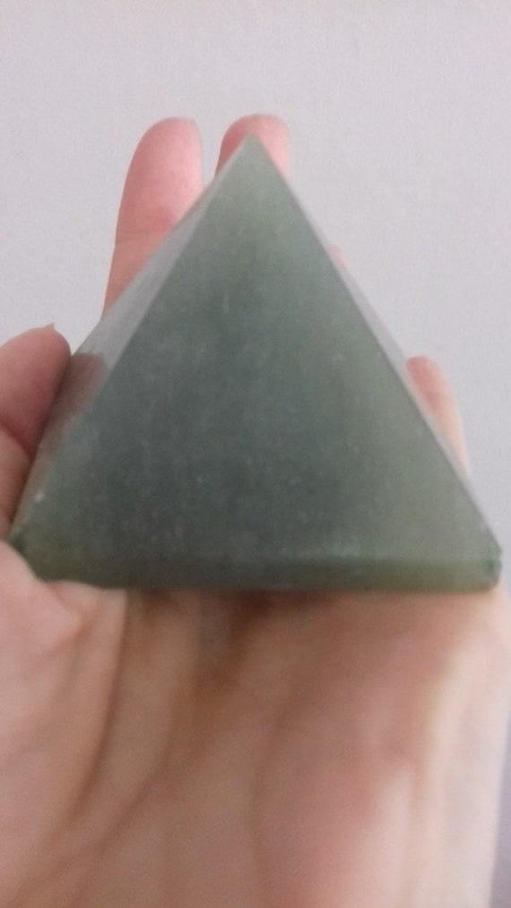 PY29DG small Qty-1 Green Aventurine Pyramid 60-70mm