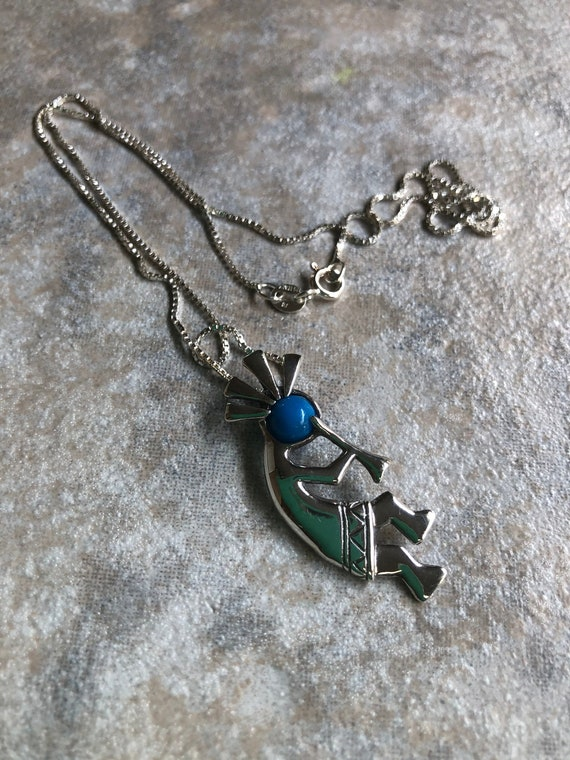 Vintage hand made southwest Native American 14k gold and sterling silver abalone cross on a heavy sterling chain