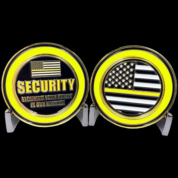 CL-NN Security Officer Challenge Coin Security Enforcement Guard Thin Purple Line