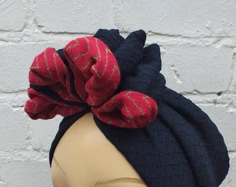 Pinup Polka Dots Rockabilly Fascinator with Spotty Veil Retro Chic