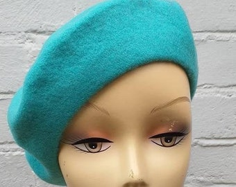 Wool BERET - Light Turquoise