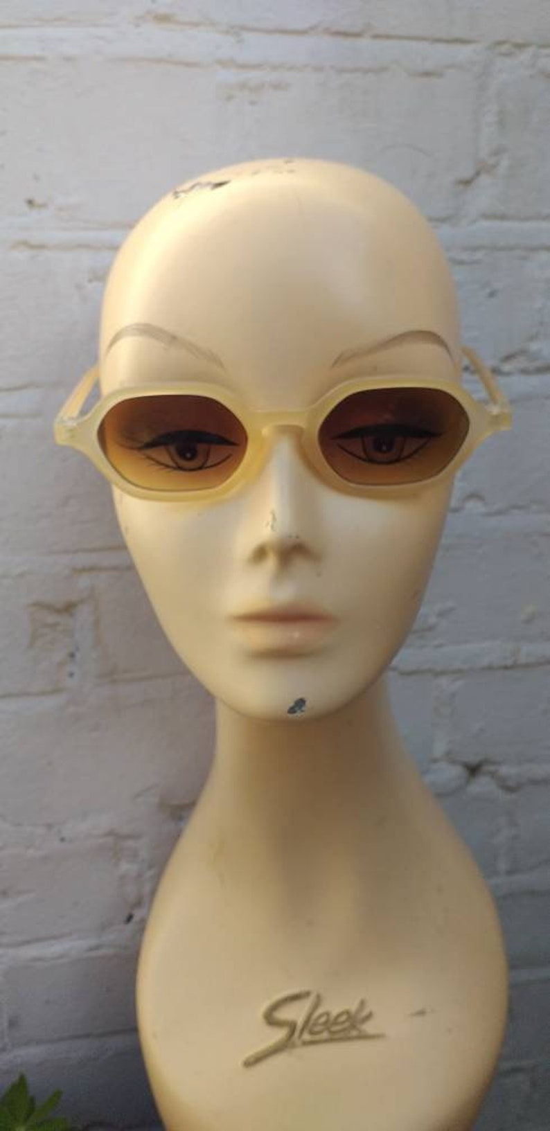 Retro Sunglasses | Vintage Glasses | New Vintage Eyeglasses Sunglasses Cream 1930s 1940s style $11.54 AT vintagedancer.com
