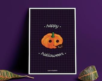 Boo! - Print Postcard Halloween/Fall A6/A5
