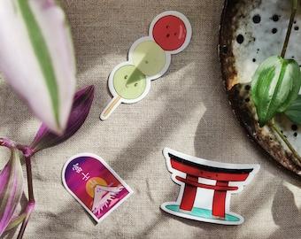 3 Japan Stickers Set - Accessories Decoration