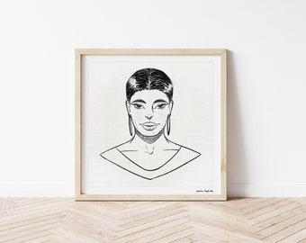 The Look - Art Print / Portrait / Digital Painting / Gift