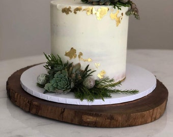 Rustic Woodland slices/cake stands