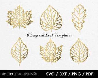 Leaf svg, Layered Leaf svg, Leaves svg, Fall Leaf svg, Autumn leaf svg, skeleton leaf svg, leaf clipart, lasercut svg, leaf svg, plants svg