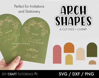 Arch SVG, Arch Shape SVG, Arch Wedding invitation, Arch Sign, svg file for Cricut, lasercut svg, arch menu, arch place card, invitation svg