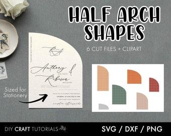 Half Arch SVG, Half Arch Shape SVG, Arch Wedding invitation, Arch Sign, shape svg, arch menu, arch place card, invitation svg