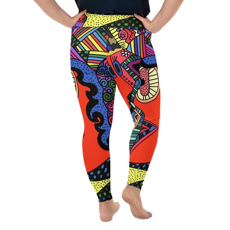 funky leggings Love Leggings Pilates leggings workout leggings yoga leggings Art Leggings,Plus Size Leggings