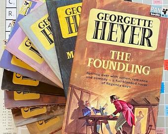 Georgette Heyer - The Corinthian & Arabella Pan Romantic Books 1964 Vintage Artwork Recycled Literary Gift