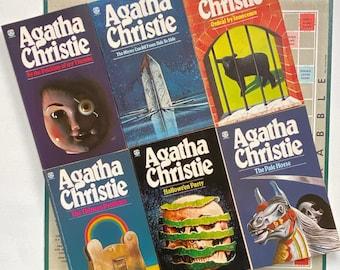 Agatha Christie Fontana Books 1980s - Vintage Murder Thriller Mystery Original - Recycled Literary Gift