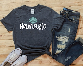 StitchPrint Namaste T-shirt avec inscription /« Paresseux humoristiques /» pour yoga et distance sociale