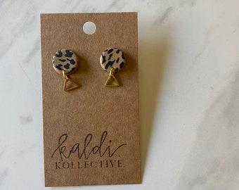 M A R Y   L Y N D A L in cheetah // WILD THING KOLLECTION // handmade polymer clay earrings