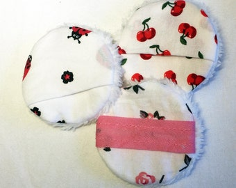 reusable make-up pads with tab, sustainable cotton pads, washable