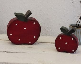 Set of 2 apples*RED*handmade*