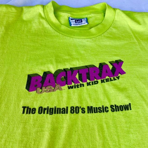 Vintage 80's Neon Green Backtrax Graphic Tee - image 3