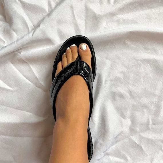 Vintage 90's Black Prada Platform Sandals - image 8