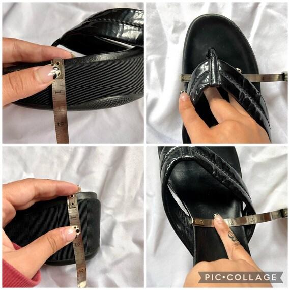 Vintage 90's Black Prada Platform Sandals - image 10