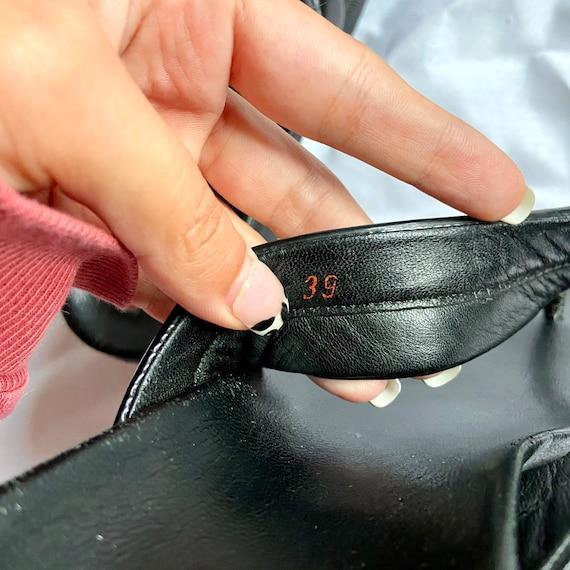 Vintage 90's Black Prada Platform Sandals - image 7
