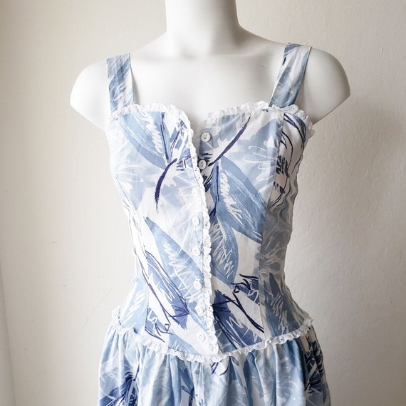 Krist Gudnason 80s Prairie Dress Vintage Floral