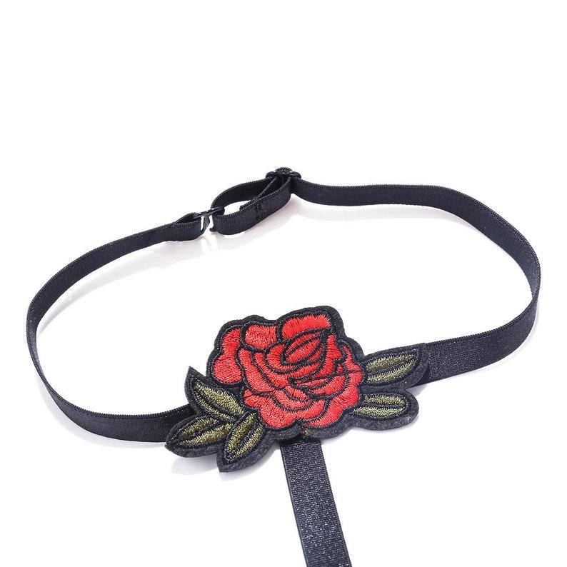Flower Body Jewelery Bralette Body Jewelry Body Harness Body Jewellery Red Rose Black Body Harness Bralette Chic Body Jewelry