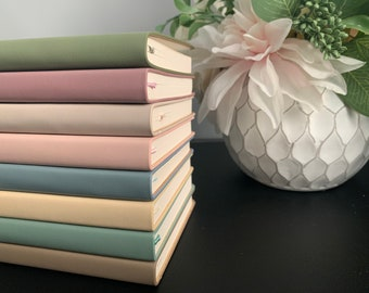Pastel Soft Cover Notebook, Notepad with PU leather cover, Portable Diary, bullet journal, lined paper, scrapbook, stationary, A6, travel