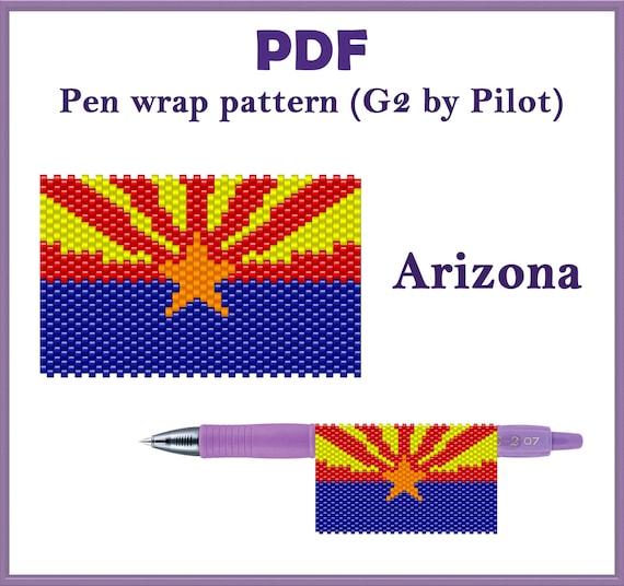 -I Love You Mom 2 Bead Pattern Peyote Pen WrapCover