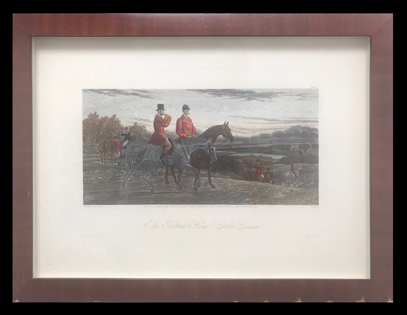 Sheldon William Hunting print C Hunt Etching Engraving Horse print Collectable Antique Fine art England Print