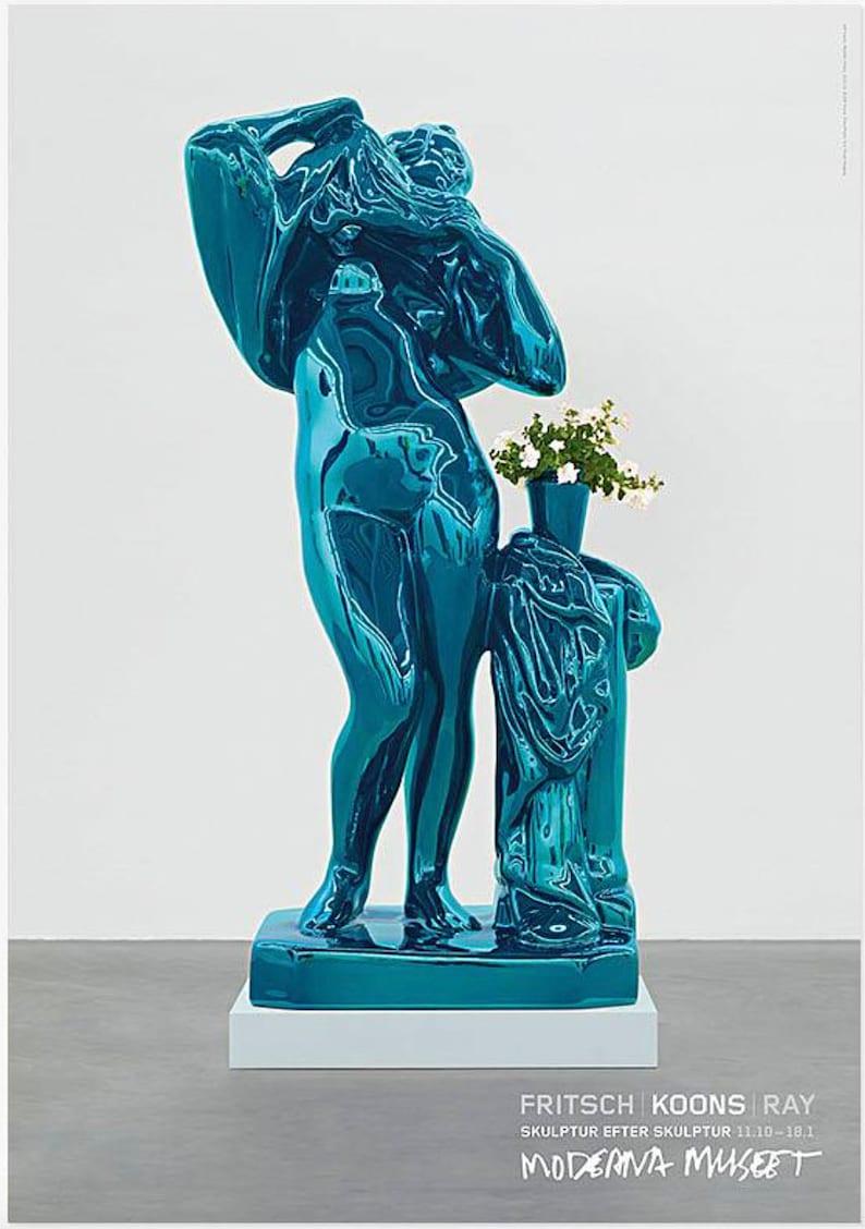 Exhibition Poster Jeff Koons Poster. Museum Poster Print Contemporary Venus Pop Lithograph Art Original