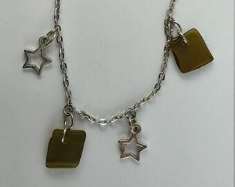Charm Bracelet with Recycled Glass