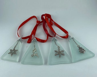 Recycled Glass Christmas Charm Ornament