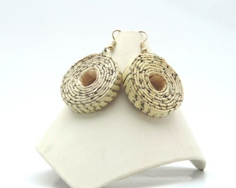 Recycled Newspaper Coil Earrings
