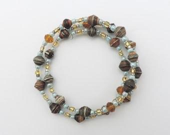 Magazine Bead Coil Bracelet