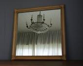 Vintage Rattan Wicker mirror in Boho style