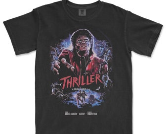 Thiller shirt 80s Movie Poster Art Halloween Tee
