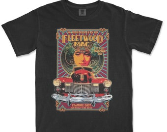 FleetWood Mac '69 Shirt, Comfort Colors Shirt, Vintage Style Shirt, (Not Vintage)