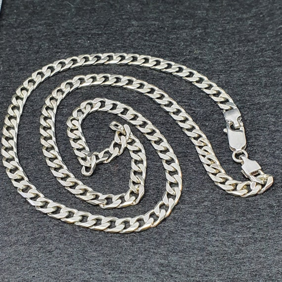 925 Sterling Silver Cuban Chain Necklace