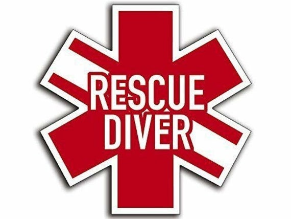 "Scuba Dive Flag Rescue Diver Decal Bumper Sticker Personalize 3.5/"" x 6/"" Any Text"