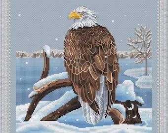 Sea Eagle Counted Cross Stitch Pattern