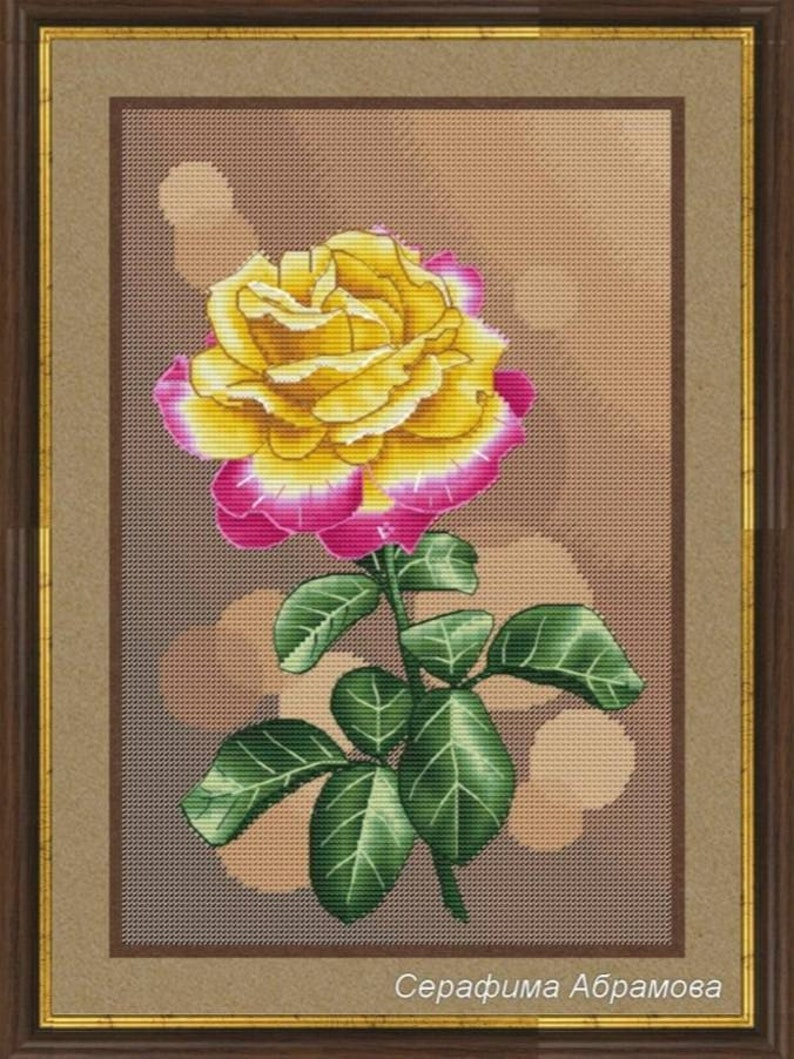 Pullman Orient Express Rose Counted Cross Stitch Pattern Rose image 0