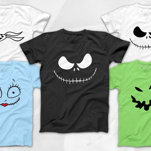 Nightmare Before Christmas Easy Disney Costume Tees for Mickey/'s Not So Scary Halloween Party Jack Skellington Sally Oogie Boogie Zero