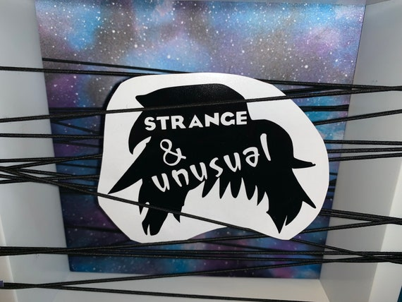 Lydia Deetz Strange Unusual Beetlejuice Decal Sticker Etsy