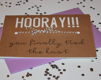 Congratulations to the Newlyweds Card  Couples Therapy  Humorous Wedding Card  Funny Wedding Card  Tied The Knot  Mr /& Mrs.