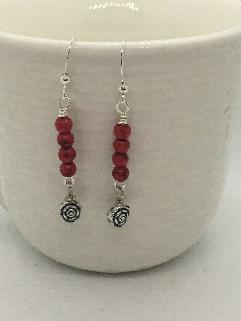 Handmade Earrings Dangle Everyday Earrings Handmade Beaded Jewelry Presents for Women Gift for Her Handcrafted Jewelry