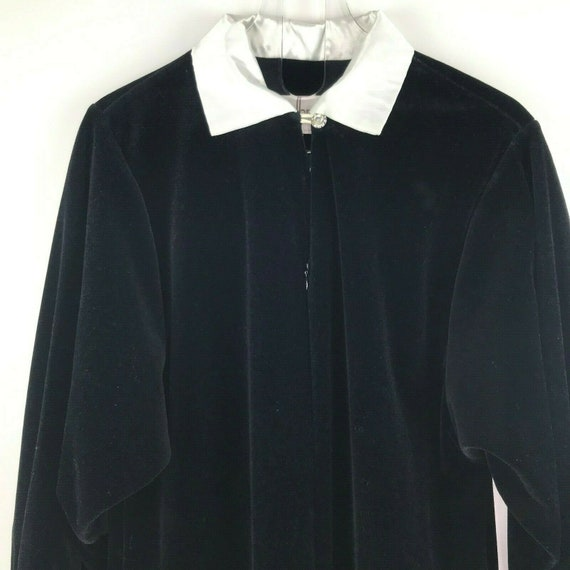 Vintage David Brown California  Black Velour Robe